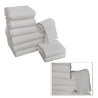 Set asciugamani nido d'ape bianco in puro cotone hotel spa b&b
