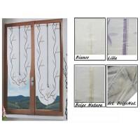Coppia tendine finestra Merida porta finestra moderna elegante semi coprente cucina bagno