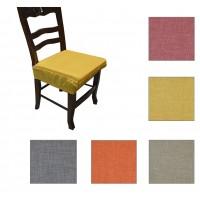 Cuscino coppia coprisedia con elastico sedia tinta unita