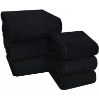 Set asciugamani nero viso salvietta asciugamano b&b parrucchiera palestra