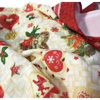 Tovaglia antimacchia natalizia 320cm no stiro natale 2020 Sonia
