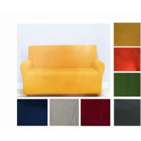 Copridivano tinta unita copripoltrona divani 2 3 4 posti Compact