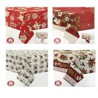 Tovaglia natale natalizia puro cotone made in Italy preziosa Abete