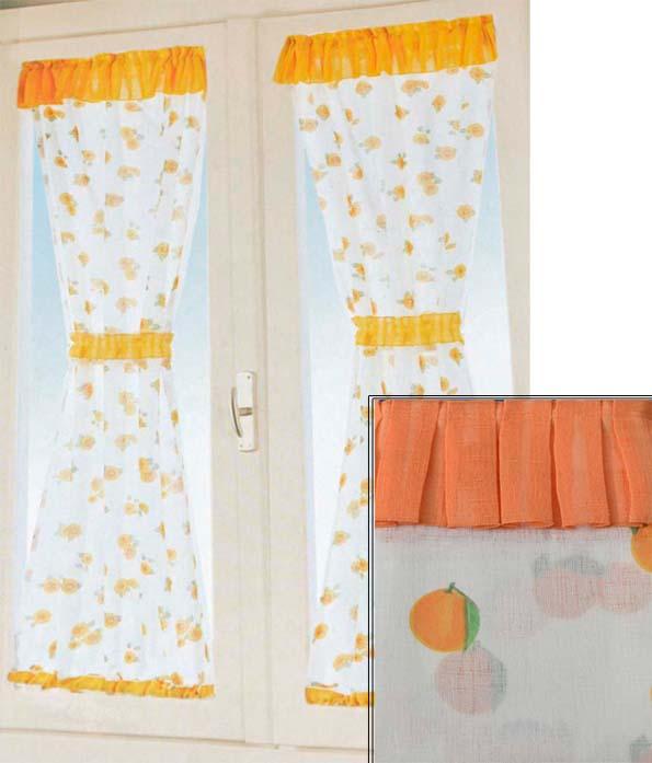 Coppia tendine finestra frutta country finestre cucina tinello ...